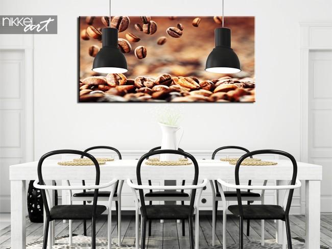 Een foto op canvas koffiebonen